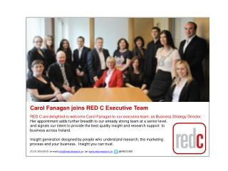 Carol Fanagan joins RED C Executive Team