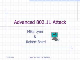 Advanced 802.11 Attack