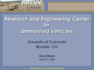 Research and Engineering Center for Unmanned Vehicles