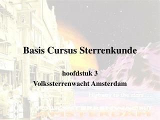 Basis Cursus Sterrenkunde