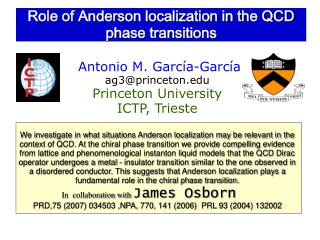 Role of Anderson localization in the QCD phase transitions