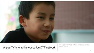 Alippe.TV Interactive education DTT network