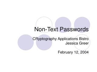 Non-Text Passwords