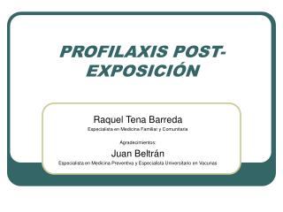 PROFILAXIS POST-EXPOSICI N