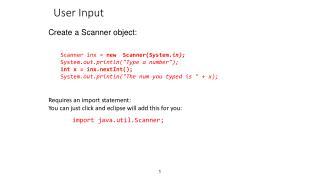 User Input