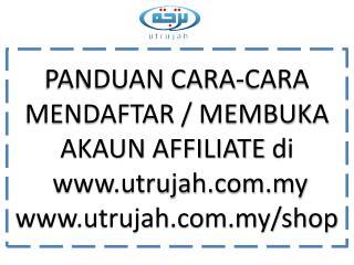 Panduan mendaftar / membuka akaun  Affiliate