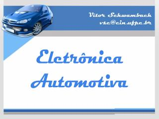 Eletr nica Automotiva