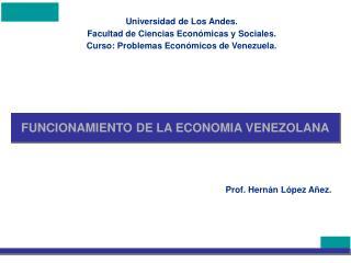 FUNCIONAMIENTO DE LA ECONOMIA VENEZOLANA