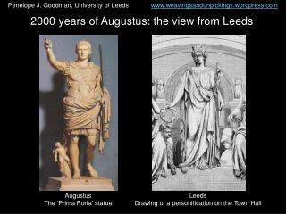 2000 years of Augustus: the view from Leeds