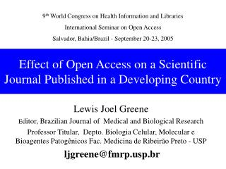 Effect of Open Access on a Scientific Journal Published in a Developing Country