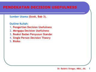 PENDEKATAN DECISION USEFULNESS
