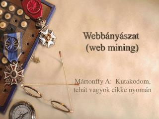 Webbányászat  (web mining)
