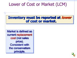 Lower of Cost or Market (LCM)