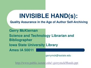 INVISIBLE HAND(s):