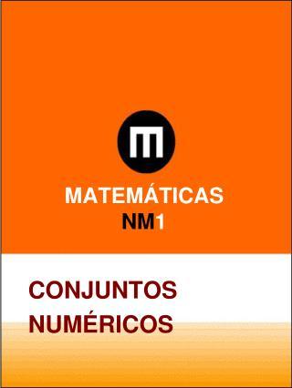 MATEM�TICAS  NM 1
