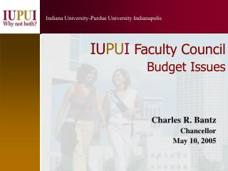 IU PU I Faculty Council Budget Issues
