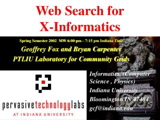 Web Search for X-Informatics