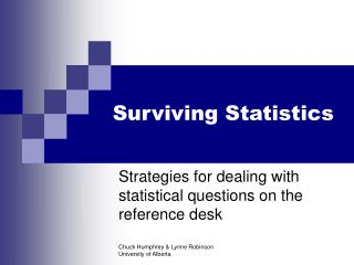 Surviving Statistics