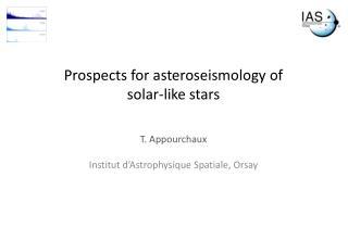 Prospects for  asteroseismology  of  solar-like stars