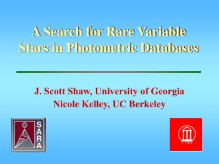A Search for Rare Variable Stars in Photometric Databases