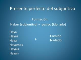 Presente perfecto del subjuntivo