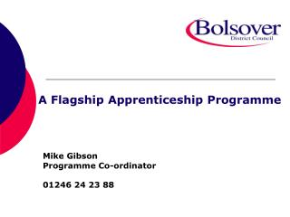 A Flagship Apprenticeship Programme