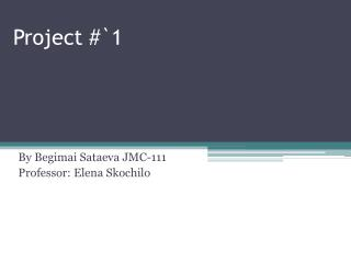 Project #`1