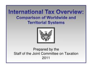 Prepared by the  Staff of the Joint Committee on Taxation 2011