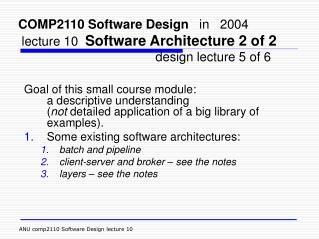 Software Architecture � in general