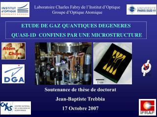 Laboratoire Charles Fabry de l�Institut d�Optique Groupe d�Optique Atomique