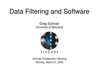 Data Filtering and Software