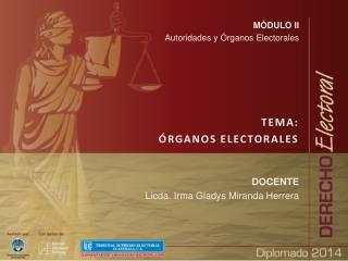MÓDULO II Autoridades y Órganos Electorales TEMA: ÓRGANOS ELECTORALES DOCENTE