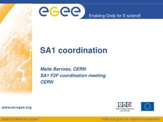 SA1 coordination