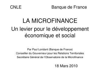 CNLE                         Banque de France