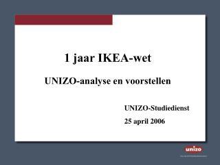 1 jaar IKEA-wet UNIZO-analyse en voorstellen