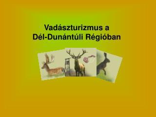 Vadászturizmus a  Dél-Dunántúli Régióban