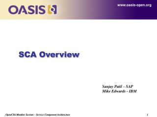 SCA Overview