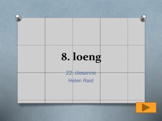 8. loeng