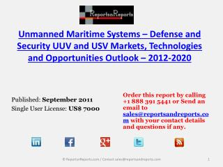 Overview of Unmanned Maritime Systems Industry – 2020
