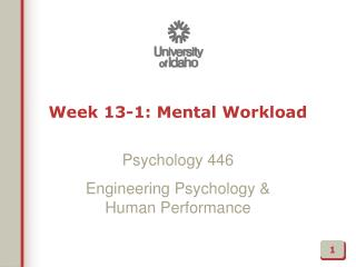 Week  13-1: Mental Workload
