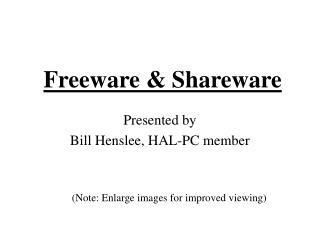 Freeware & Shareware