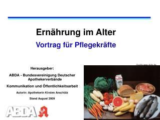 Ernährung im Alter Vortrag für Pflegekräfte