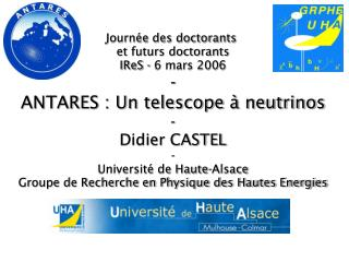 Journée des doctorants  et futurs doctorants IReS - 6 mars 2006 -
