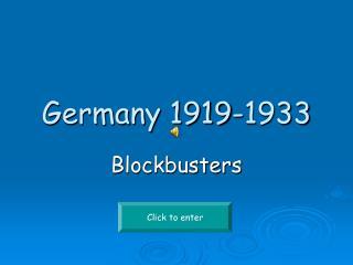 Germany 1919-1933