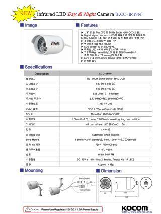 """▶ 1/3"""" 27 만 화소 고감도  SONY Super HAD CCD  채용 .  ▶ Digital signal processor (DSP)  채용으로 선명한 화질구현 ."""