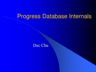 Progress Database Internals