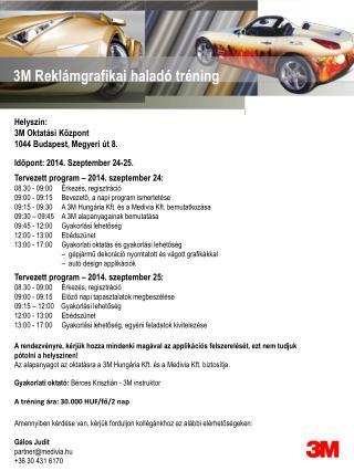 Tervezett program � 2014. szeptember 24: 08.30 - 09:00     �rkez�s, regisztr�ci�