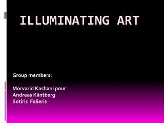 Illuminating art