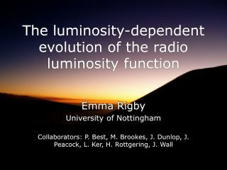The luminosity-dependent evolution of the radio luminosity function