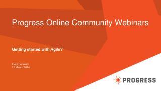 Progress Online Community Webinars